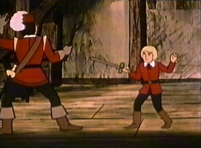 D'Artagnan and Toulee fencing