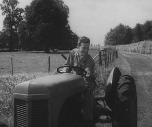 Ralph drives in the tractor for Dicey