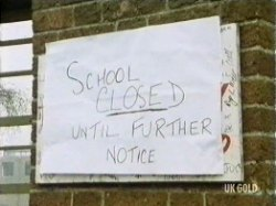 Nicky's school is closed until further notice