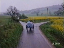 Nicky leaves via horse and cart in search of her Aunt's house