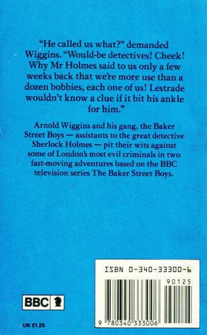 The Baker Street Boys book cover rear