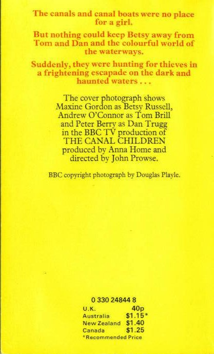 The Canal Children book cover rear